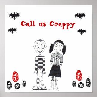 creepy boy, creepy girl, bats, bats, bats, bats... print