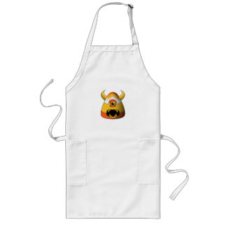 Creepy Candy Corn Angry Monster Long Apron