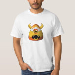 Creepy Candy Corn Angry Monster T-Shirt
