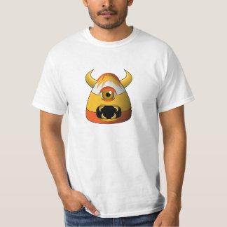 Creepy Candy Corn Angry Monster T-Shirt