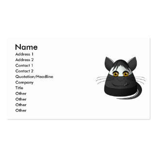 Creepy Candy Corn Cat Business Card Templates