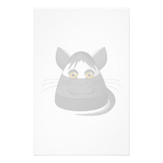 Creepy Candy Corn Cat Personalized Stationery