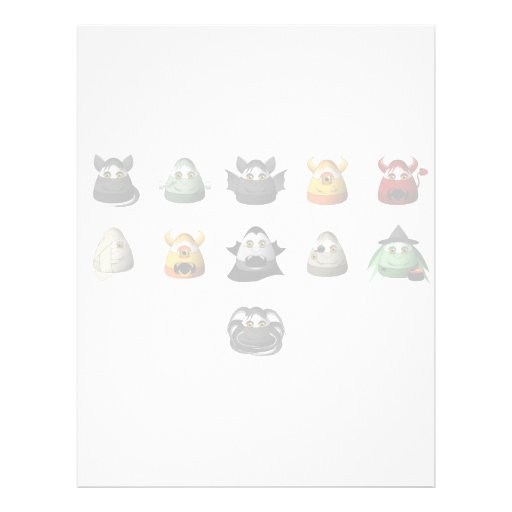 Creepy Candy Corn Creepies Rows Personalized Letterhead