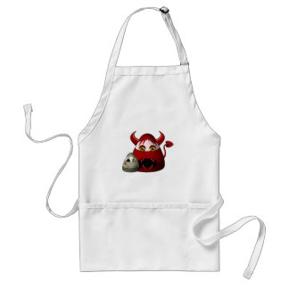 Creepy Candy Corn Devil And Zombie Adult Apron