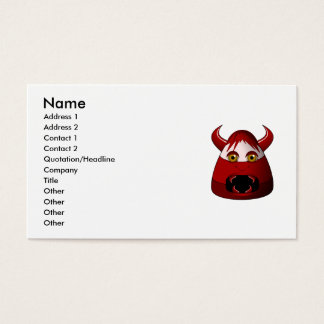 Creepy Candy Corn Devil Business Card
