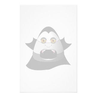 Creepy Candy Corn Dracula Stationery Paper