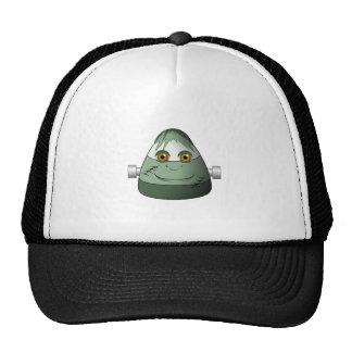 Creepy Candy Corn Frankenstein Mesh Hat