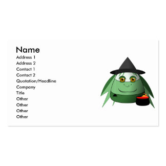 Creepy Candy Corn Witch Business Card Templates