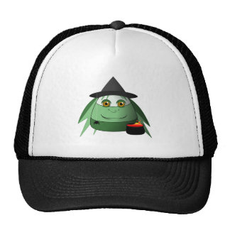 Creepy Candy Corn Witch Mesh Hat