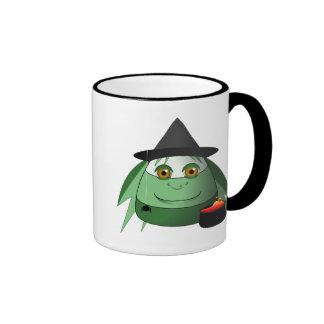 Creepy Candy Corn Witch Mug