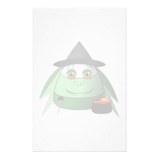 Creepy Candy Corn Witch Stationery