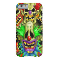 Creepy Carnival Skull Clowns iPhone 6 Case