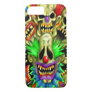 Creepy Carnival Skull Clowns iPhone 7 Case