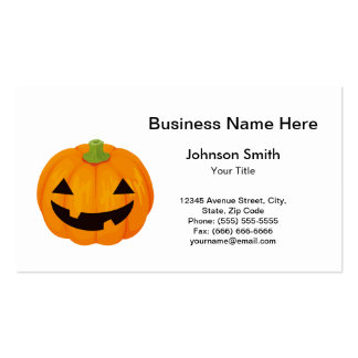 Creepy Carved Halloween Pumpkin Double-Sided Standard Business Cards (Pack Of 100)
