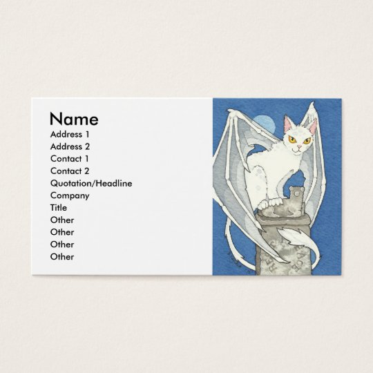 Creepy cat business card