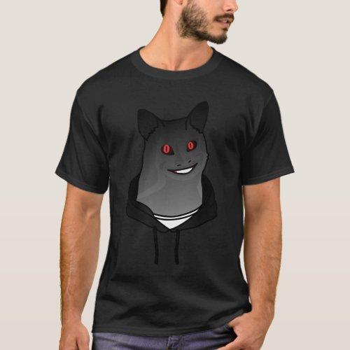 Creepy Cat Guy Smiling T_Shirt