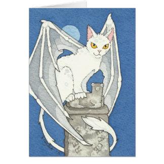 Creepy cat note card