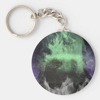 Creepy Cauldron Basic Round Button Keychain