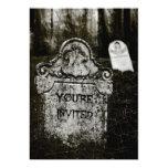 Creepy Cemetery Halloween Party Invitation