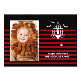 Creepy Chandelier Halloween Photo Card