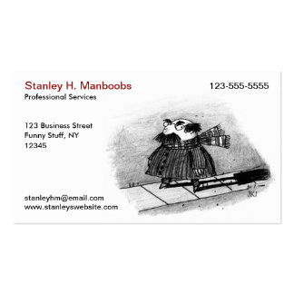 Creepy Character - Humorous Illustration Business Cards