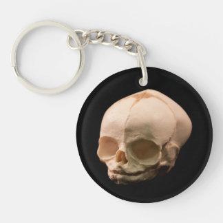 Creepy Child Skull Gothic Punk Key Ring Double-Sided Round Acrylic Keychain