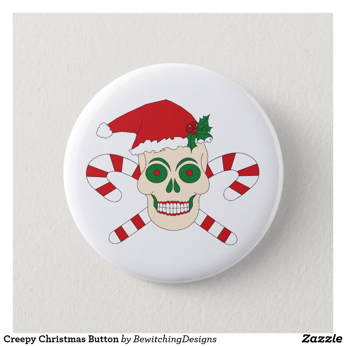 Creepy Christmas Button