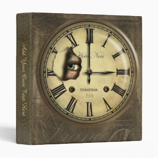 Creepy Clock Watching Personalized 3 Ring Binder
