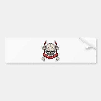 Creepy Clothing Skull Bumper Sticker