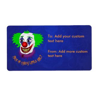 Creepy Clown Avery Label