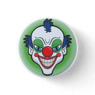 Creepy Clown Badge button