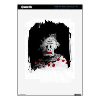 Creepy clown decal for iPad 3