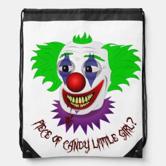 Creepy Clown Drawstring Backpack