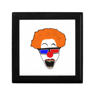 Creepy Clown in Red Blue 3D Glasses Gift Box