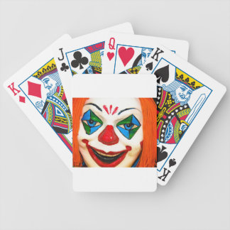 Creepy Clown Bicycle Playing Cards
