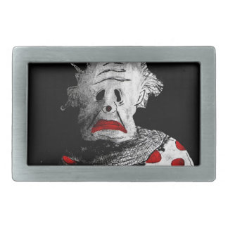 Creepy clown rectangular belt buckle