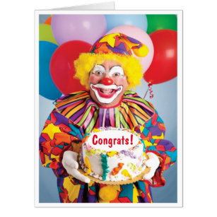 Creepy cards greeting photo cards zazzle creepy clown retirement giant greeting card m4hsunfo Gallery
