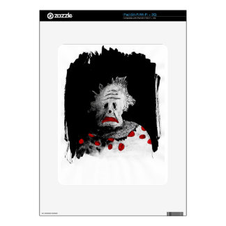 Creepy clown skin for the iPad