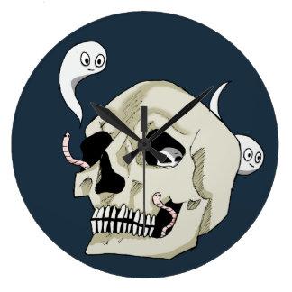 Creepy Crawler Skull Large Clock
