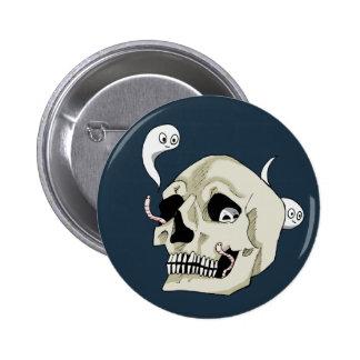 Creepy Crawler Skull Pinback Button