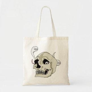 Creepy Crawler Skull Tote Bag
