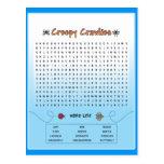 Creepy Crawlies Word Search Postcards