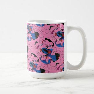 """""""Creepy Crawlly on Pink Tiled"""" Abstract Design Mug"""