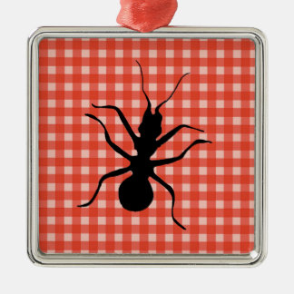 Creepy Crawly Ant Plaid Tablecloth Christmas Ornament