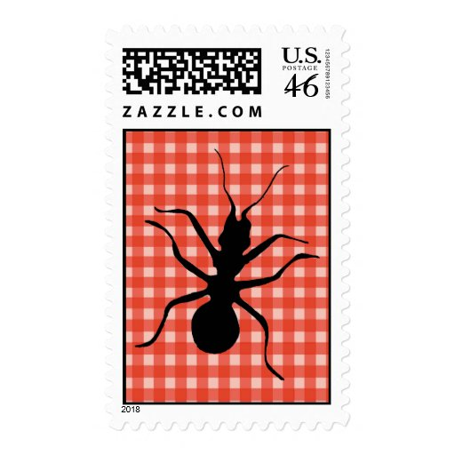 Creepy Crawly Ant Plaid Tablecloth Postage Stamp