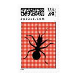 Creepy Crawly Ant Plaid Tablecloth Postage Stamps