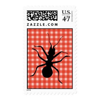 Creepy Crawly Ant Plaid Tablecloth Stamp