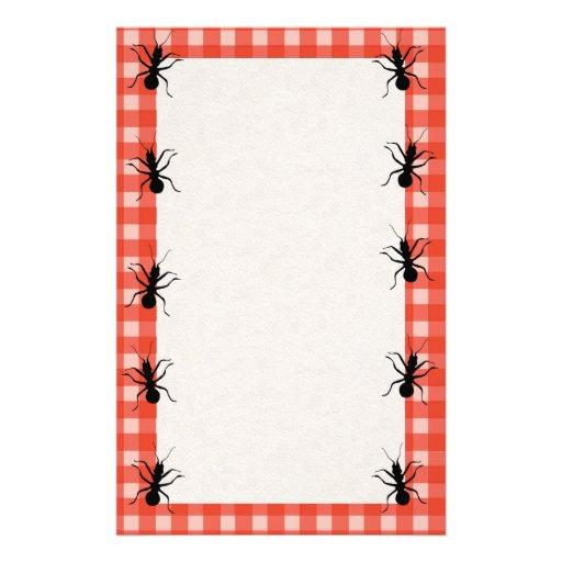 Creepy Crawly Ants Plaid Tablecloth Stationery Zazzle