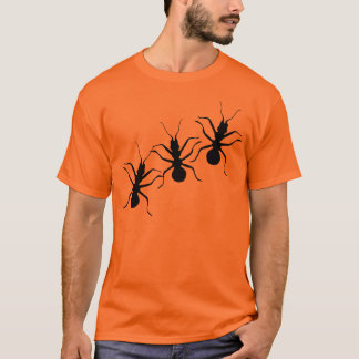 Creepy Crawly Black Ants Insects T-Shirt