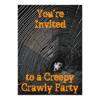 Creepy Crawly Halloween Party 5x7 Paper Invitation Card